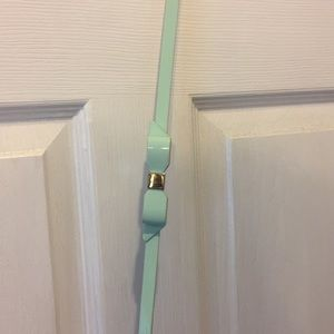 Mint Bow Belt